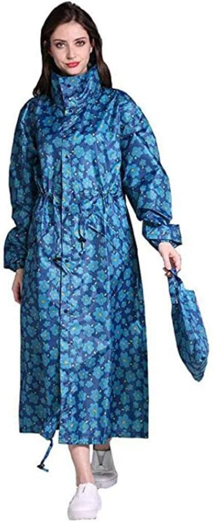 Women's Stylish Long Raincoat with and Color Max 75% Quantity limited OFF Hood Pattern Multi
