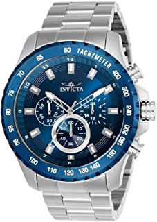 Invicta Men's Speedway Quartz Watch with Stainless-Steel Strap, Silver, 10 (Model: 24212)