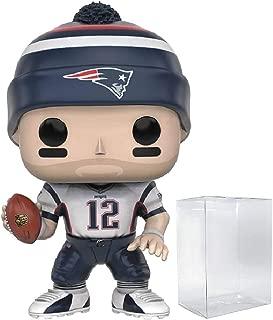 Funko NFL: Wave 3 - Patriots Tom Brady Pop! Vinyl Figure (Includes Compatible Pop Box Protector Case)