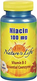 Nature's Life Niacin 100mg | Vitamin B3 Supplement | Healthy Blood Lipid, Circulation & Skin Support | 250CT