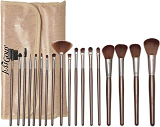 Just Gold 18 Pieces Brush Set - Beige, JG-9257, Pack of 1