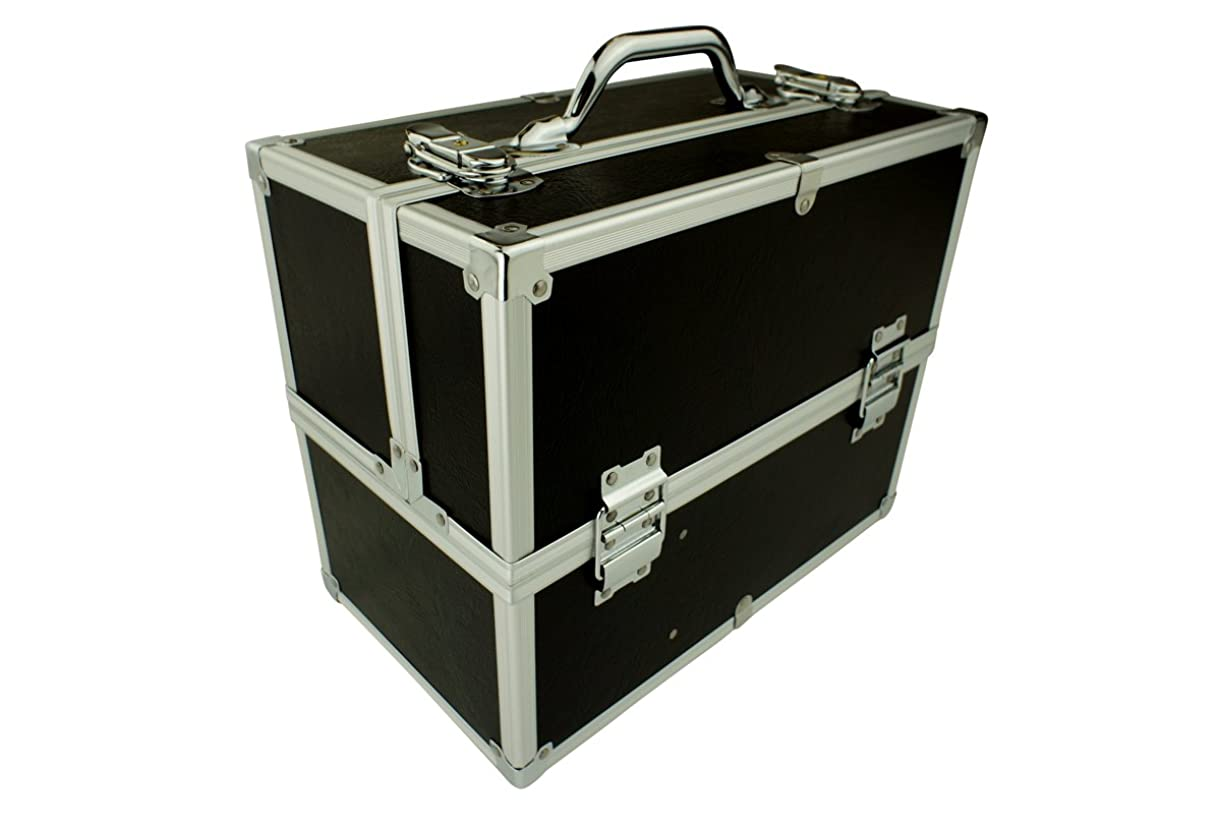 障害カルシウムネイティブメイクボックス|C2613BK-2|軽量タイプ|コスメボックス 化粧箱 メイクアップボックス|Make box MAKE UP BOX