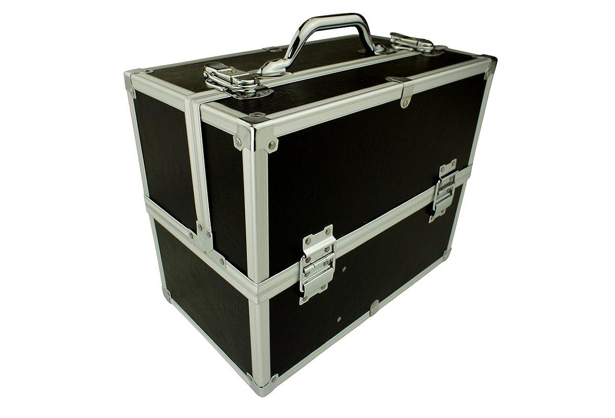 ファンシー遵守する帽子メイクボックス C2613BK-2 軽量タイプ コスメボックス 化粧箱 メイクアップボックス Make box MAKE UP BOX