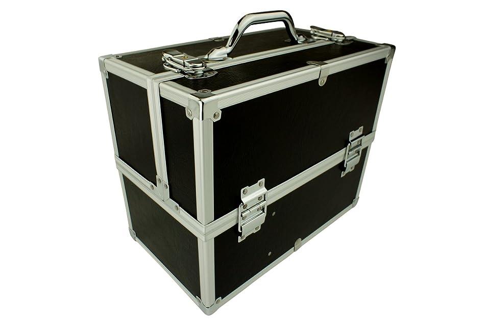 驚いたことに記念碑的な水平メイクボックス|C2613BK-2|軽量タイプ|コスメボックス 化粧箱 メイクアップボックス|Make box MAKE UP BOX