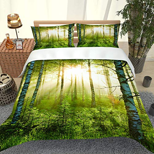 Oukeep Fashion Printed Duvet Cover Kit With Zipper 2 Envelope Pillow Cases Suitable For Hotel, Bedroom, Living Room Bedding Soft And Comfortable 3-Piece Set
