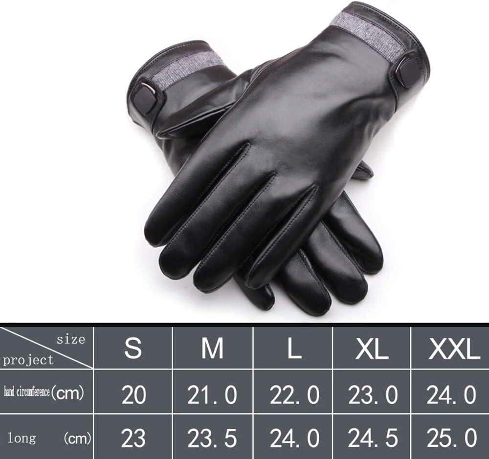 ACCDUER Men's Gloves Men's Leather Gloves Winter Warm Sheepskin Men's Glove Cold Touch Screen Leather Mitten Ractor Vans Motorcycle Gloves Black Motorcycle Mitten Driving Gloves