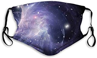 Nebula Gas Cloud in Deep Outer Space Galaxy Expanse Milky Way Print Reusable Face Mask Balaclava Outdoor Nose Mouth Cover ...