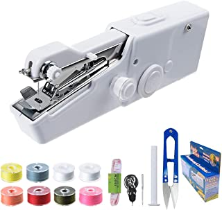Portable Sewing Machine Handheld - Mini Hand Sewing Machine for Kids Beginners Home or Travel Sewing - Cordless Small Hand...