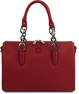 Tuscany Leather - Narciso - Leather Duffle Bag - TL141875 (Red)