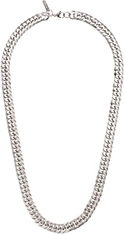 "26"" Flat Curb Chain Necklace in Stainless Steel"