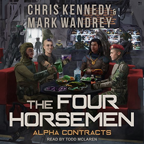 Alpha Contracts     Revelations Cycle Series, Book 10              By:                                                                                                                                 Chris Kennedy,                                                                                        Mark Wandrey                               Narrated by:                                                                                                                                 Todd McLaren                      Length: 11 hrs and 54 mins     81 ratings     Overall 4.8