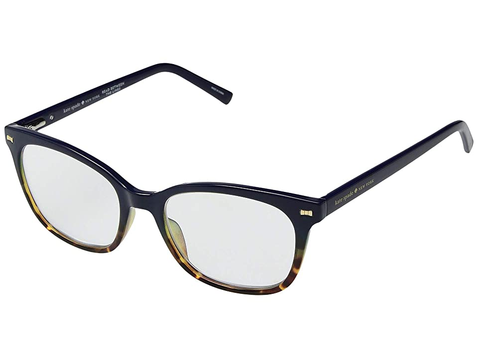 Kate Spade New York Keadra (Blue Havana) Reading Glasses Sunglasses