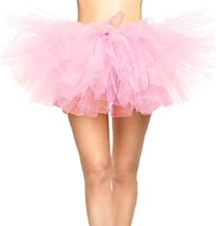 CahcyElilk Women's Mini Puffy Bubble 6-Layered Ballet Run Halloween Tutu Costume