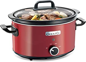 Crock-Pot SCV400RD-050 SCV400RD, 210 W, 3.5 litros, Acero Inoxidable, Rojo