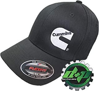 Diesel Power Plus Dodge Cummins Flex Fit Flexfit Black Cap Fitted Hat lg/XL Large/XL