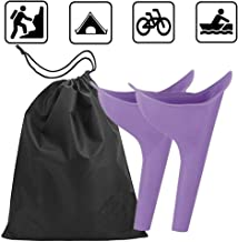 Travel Lightweight Female Urination Device - Women Portable Urinal Funnel Camping Hygiene & Sanitation Perfect Camping Traveling Climbing Festivals Outdoor Activities(2 pack with free bag)