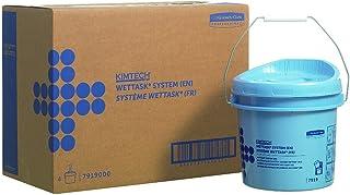 Seau distributeur d'essuyeurs en rouleaux Wettask 7919 - 4 seaux bleus