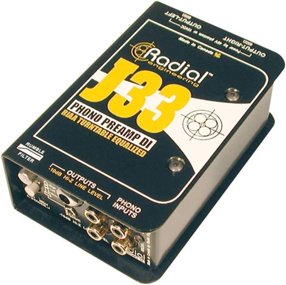 Radial Engineering J33 Max 40% Superlatite OFF RIAA Direct Turntable Preamp Box