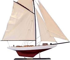 Hampton Nautical Decorative Columbia Model Sailing Yacht 35