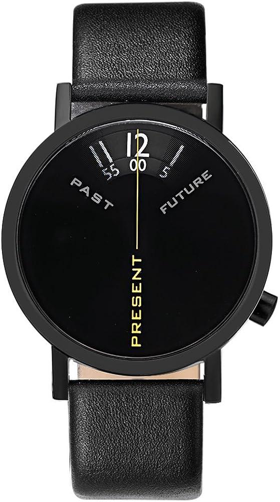 Projects Watches Past, Present, Future Black Acero INOX Negro Reloj Unisex