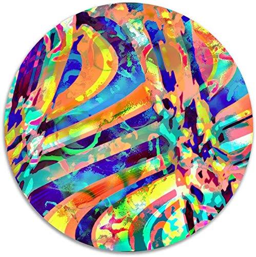 Arte digital Obra abstracta Antideslizante Terciopelo coralino Alfombras de área redonda Alfombras de espuma viscoelástica Alfombra de dormitorio de diámetro Alfombra de silla de yoga Felpudo