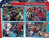 Educa - Multi 4 Puzzles Junior, puzzle infantil Ultimate Spider-Man de 50,80,100 y 150 piezas, a partir de 5 años (18102)