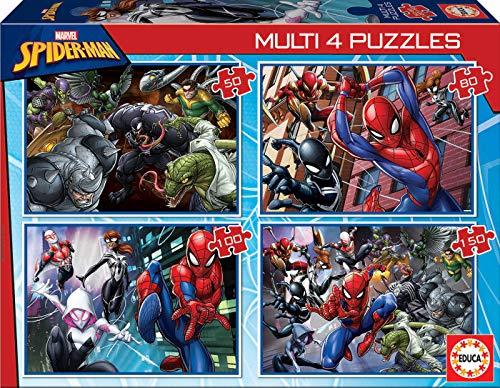 Educa - Multi 4 Puzzles Junior, puzzle infantil Ultimate Spi