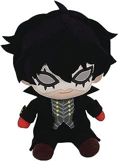 Great Eastern Entertainment Persona 5 Protagonist Joker Phantom Thief Sitting Pose Plush, 6