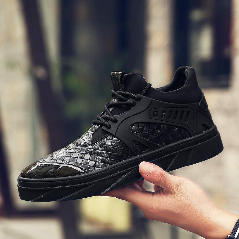Hasag Sports shoes New Men's White shoes Casual Men's shoes,Black,39
