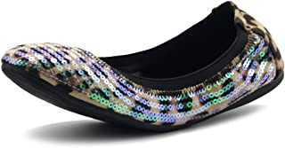 Women's Shoe Ballet Multi Color Spangle Comfort Flat