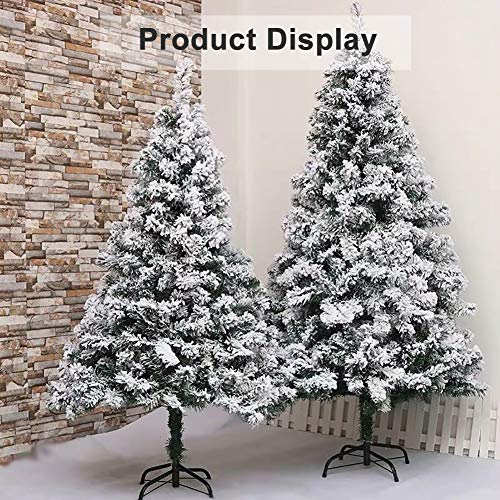 Snow-Flocked-Artificial-Pine-Christmas-Tree-120cm-4-Feet-Realistic-Xmas-Tree-With-Sturdy-Stand-Holiday-Decor-Ornament