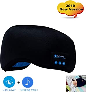 Bluetooth Sleep Eye Mask Headphones, 2019 New Version Wireless Sleepphones Sleeping Travel Music Eye Cover for Sleep up to 8 Hours Play Time