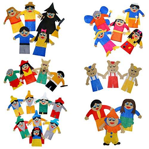 Dedoche Contos e Estórias Infantis Feltro Carlu Brinquedos