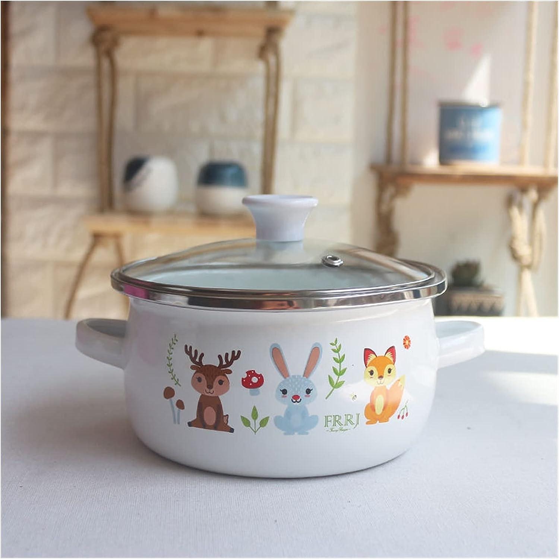 Non-stick pan Soup Pot Enamel Bowl Insta Small Rapid rise San Antonio Mall Fresh Hot