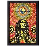 Bob Marley rieur, indienne Bohemian Mandala, indien Mandala Bohême Coton hippie Bobmarle Poster Tapisserie murale Affiche de taille 30x 40Coton hippie mandala Tapisserie Bobmarle Poster,