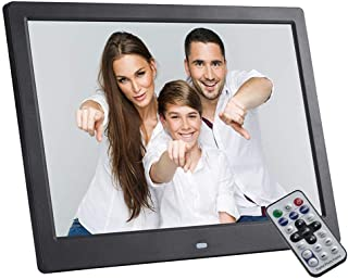 Digital Photo Frame,12-inch 1080P HD Video Playback with HDMI, MP3 / MP4 Player Support Music Clock Calendar Electronic Pi...