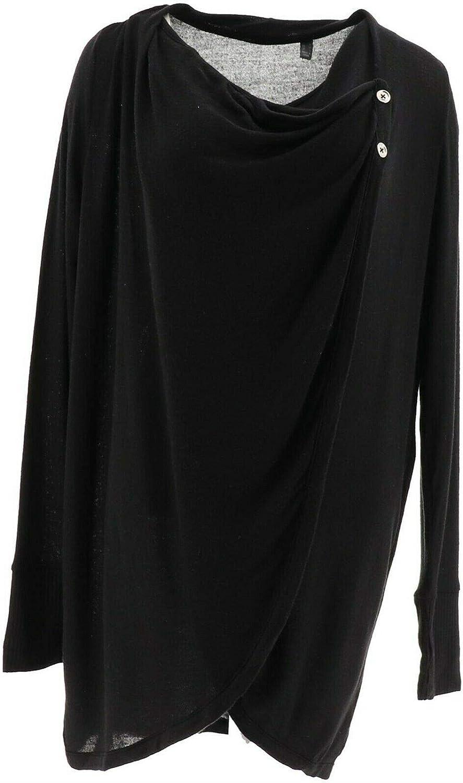 AnyBody Loungewear Brushed Drape Front Cardigan A286594
