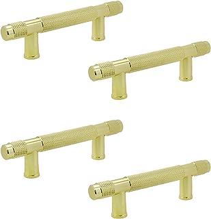 LC LICTOP سبائك الألومنيوم مخرش بار سحب مصقول الذهب خزانة المطبخ الأجهزة 110 ملم طول 64 ملم المسافة الفتحة 4 قطع