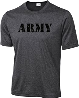 Vintage Army Logo Moisture Wicking Athletic Physical Training T-Shirts