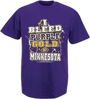 Minnesota Football I Bleed Purple and Gold - GO Minnesota! Purple T-Shirt| Size| X-Large