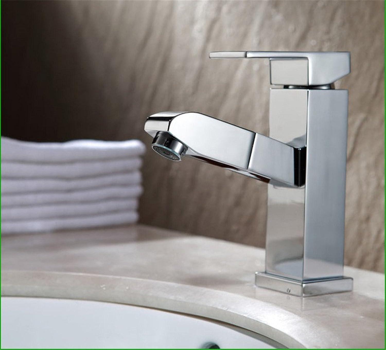 Lvsede Bad Wasserhahn Design Küchenarmatur Niederdruck Verkupfertes, Verchromtes Waschtisch-Kalt- Und Warmwassermischbecken G1507