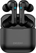 Auriculares inalámbricos con cancelación activa de ruido, DIGDIY D10 Bluetooth 5.0 auriculares con 4 micrófonos de cancelación de ruido, modo de transparencia, caja de carga inalámbrica, control táctil, IPX8 impermeable - negro