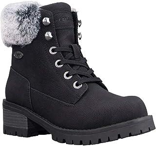 Lugz Women's Flirt Hi Fur Combat Boot
