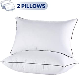 JOLLYVOGUE 2 Pack Bed Pillows for Sleeping- Down Alternative Pillow for Side and Back..