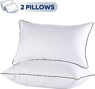 JOLLYVOGUE 2 Pack Bed Pillows for Sleeping-Hypoallergenic Sleeping Pillows for Side and Back Sleeper Hotel Pillows Down Alternative Pillow with Super Soft Plush Fiber Fill-Standard Size
