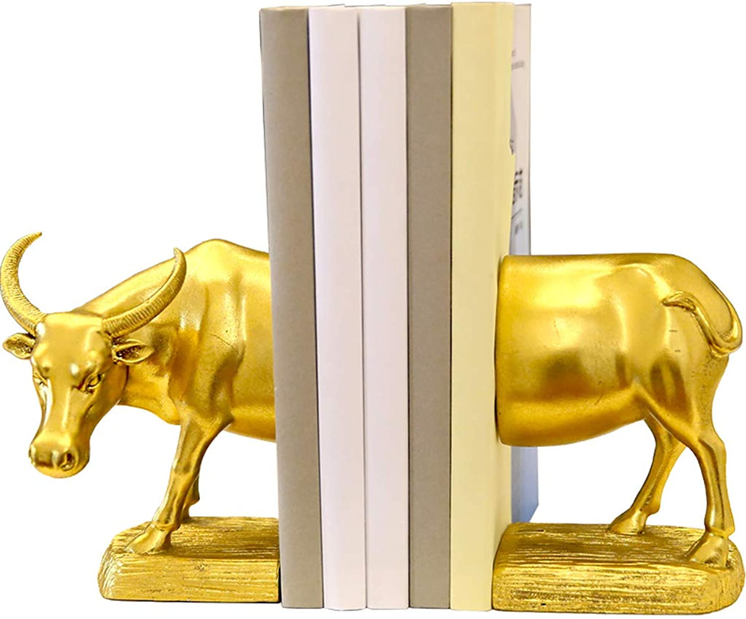 WFFXLL European American Creative Book Block Home Cow Book by Book Standing Bedroom Study Office Decoration Resin Decoration 12x16cm Bookcase
