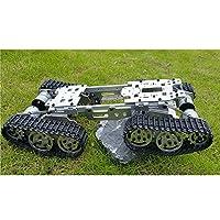 WZY569インテリジェンスRCタンク車トラックロボットシャーシ393mm* 206mm* 84mm CNC 合金ボディ+ 4プラスチック キャタピラ+ 4モーター [並行輸入品]