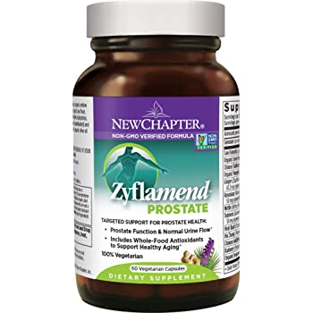 New Chapter Prostate Supplement - Zyflamend Prostate with Saw Palmetto + Pumpkin Seed Oil + Turmeric for Prostate Health - 60 ct Vegetarian Capsule
