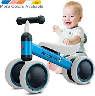 Baby Balance Bikes 10-24 Month Children Walker   Toys for 1 Year Old Boys Girls   No Pedal Infant 4 Wheels Toddler Bicycle   Best First Birthday New Year Holiday