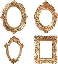 KESYOO 1 conjunto de 4 peças de acessórios para fotos acessórios de fotografia retro com molduras para fotos (dourado) Por...